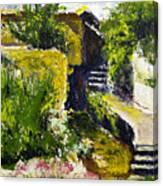 Steps To San Martin Canvas Print