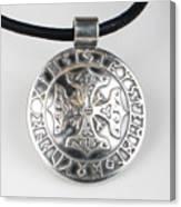 Sterling Silver Viking Celtic Cross Canvas Print