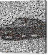 Steve Mcqueen Bullit Mosaic Canvas Print