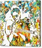 Steve Vai Paint Splatter Canvas Print