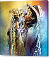 Steven Tyler 01  Aerosmith Canvas Print