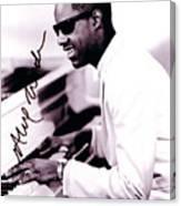 Stevie Wonder Autographed Canvas Print