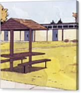 Sticker Landscape 1 Schoolyard Canvas Print