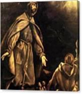 Stigmatisation Of St Francis Canvas Print