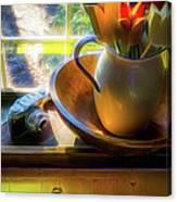 Still Life By Window Canvas Print