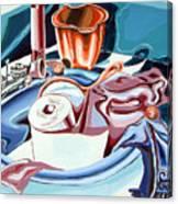 Still Life For Bathroom  Canvas Print