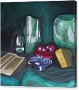 Still Life Green Canvas Print