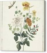 Still Life Of Flowers, Machtelt Moninckx, C. 1600 - C. 1687 Canvas Print