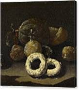 Still Life Of Sugared Fruits Canvas Print
