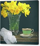 Still Life On Rustic Table Canvas Print