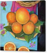 Still Life Oranges And Grapefruit Canvas Print
