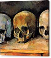Still Life, Three Skulls Canvas Print