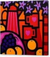 Still Life With 2 Hearts Canvas Print