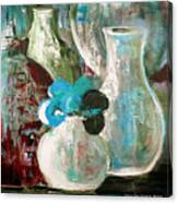 Still Life With A Blue Flower Canvas Print