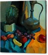 Still Life With A Cactus Canvas Print