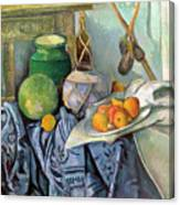 Still Life With A Ginger Jar And Eggplants Canvas Print