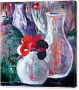 Still Life With A Red Flower Canvas Print