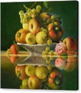 Still Life with a Rose Canvas Print
