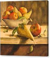 Still-life With Apples And Pears Canvas Print