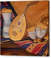 Still Life With Arabian Oud Canvas Print