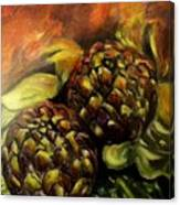 Still Life With Artichokes Canvas Print