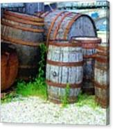 Still Life With Barrels Canvas Print