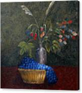 Still Life With Blue Fruit Canvas Print