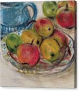 Still Life With Blue Teapot 2 Canvas Print