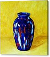 Still Life With Blue Vase Canvas Print
