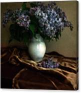 Still Life With Bouqet Of Fresh Lilac Canvas Print