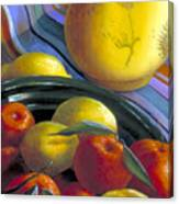 Still Life With Citrus Canvas Print