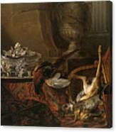 Still Life With Dead Game And A Silver Tureen On A Turkish Carpet Canvas Print