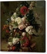 Still Life With Flowers, 1789 Canvas Print