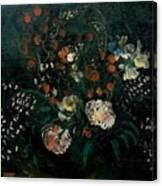 Still Life With Flowers Boris Grigoriev Canvas Print