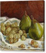 Still Life with French Grapes Canvas Print