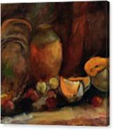 Still Life With Fruits And Pumpkin Canvas Print