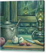 Still Life With Garlic Canvas Print