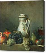 Still Life With Grapes And Pomegranates Canvas Print