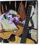 Still Life With Guitar Canvas Print