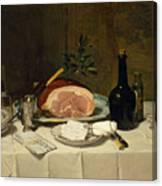 Still Life With Ham Canvas Print
