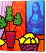 Still Life With Matisse And Mona Lisa Canvas Print