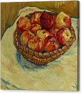 Still Life With Moravian Apples Canvas Print