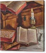 Still Life With Old Books Canvas Print
