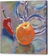 Still Life With Orange Canvas Print
