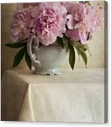 Still Life With Pink Peonies Canvas Print