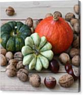 Still Life With Products Of Autumn Canvas Print