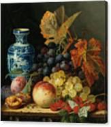 Still Life With Rasberries Canvas Print