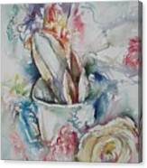 Still Life With Rose Canvas Print