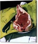 Still Life With Steak Canvas Print