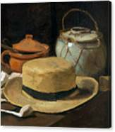 Still Life With Straw Hat, By Vincent Van Gogh, 1881, Kroller-mu Canvas Print